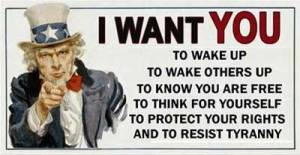 75-I WANT YOU To Wake Up - To Wake Others Up